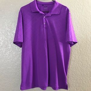 Men's Adidas Pure Motion Large Purple Polo